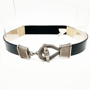 🆕 Sonoma Black Stretch Waist Belt Size S/M Silver